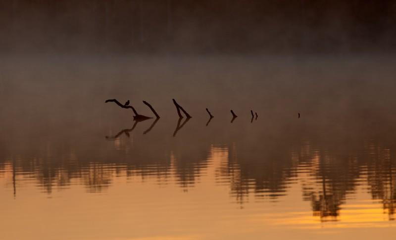 Udune hommik rabajärvel
