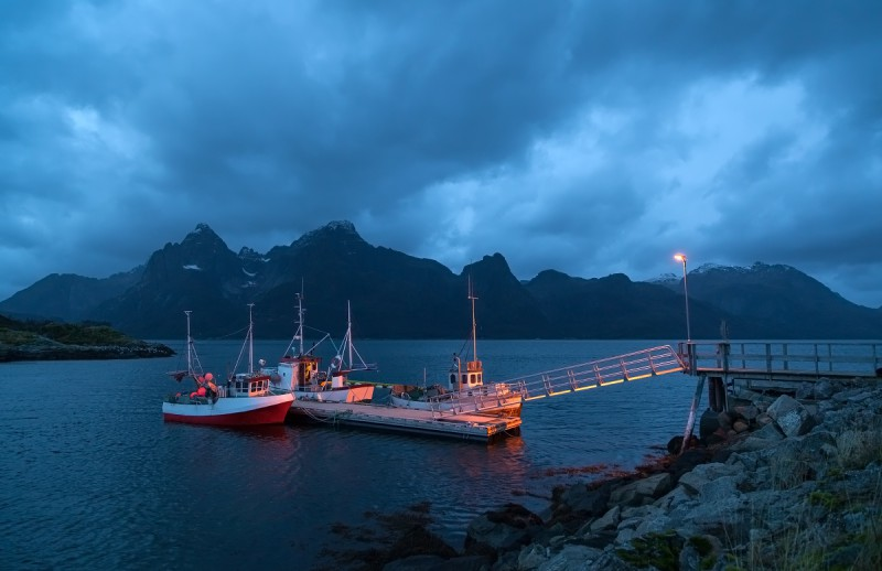 Kalalaevad Norra fjordis