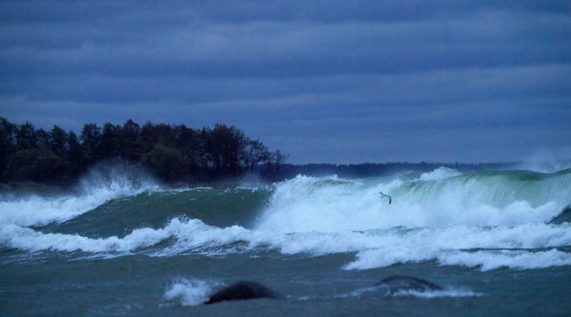 Tormine meri varahommikul